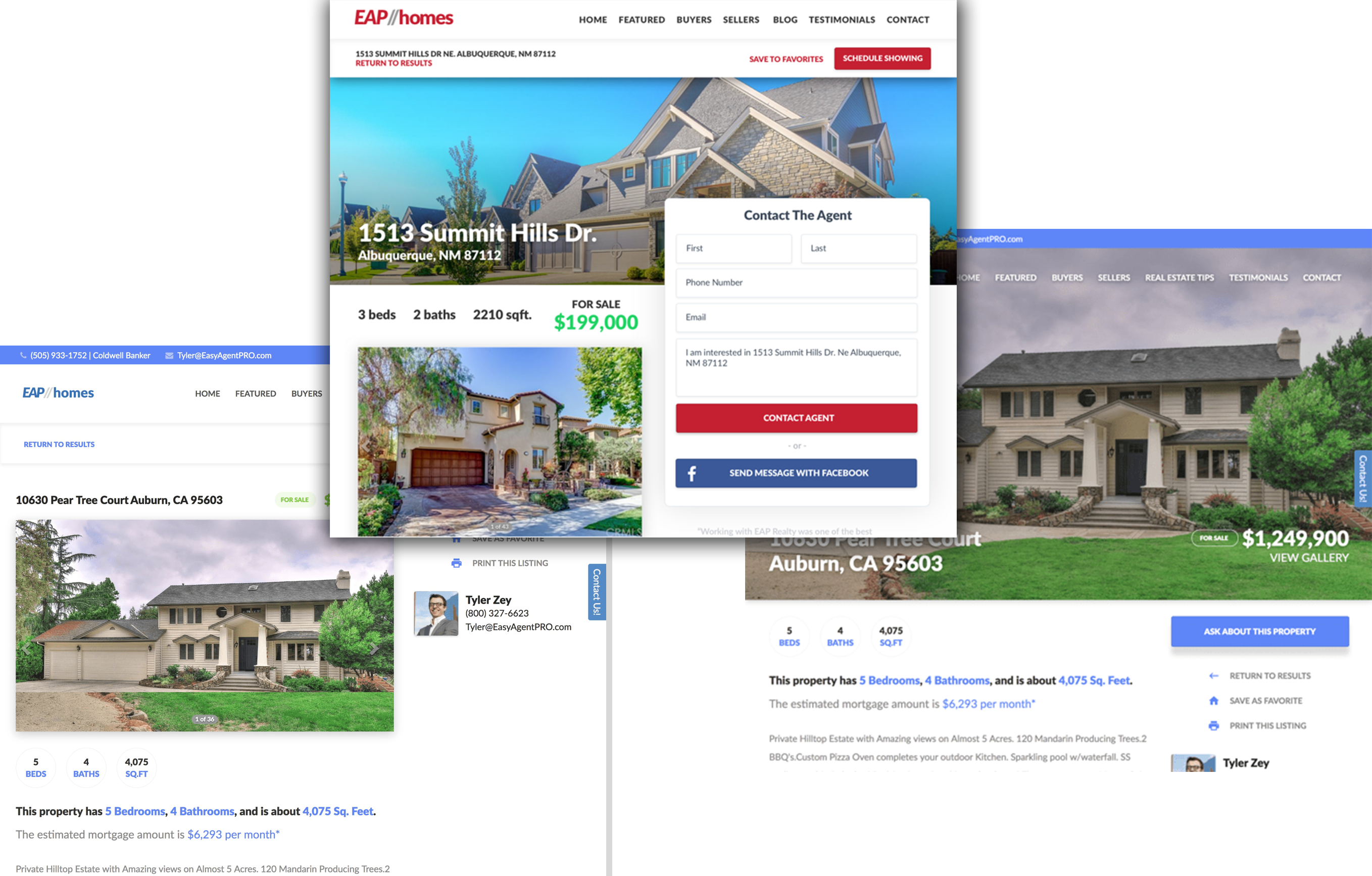 real estate listings designer