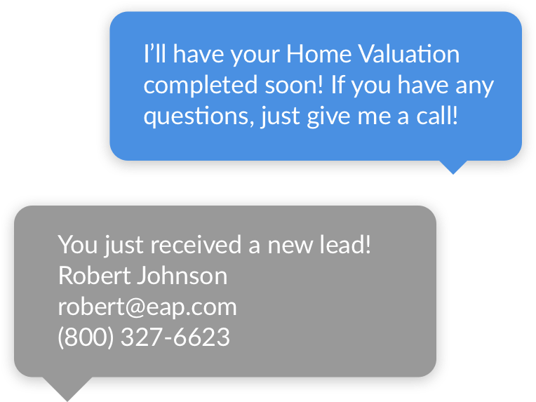 LeadSites Text Message Example