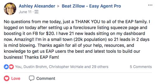easy agent pro testimonial