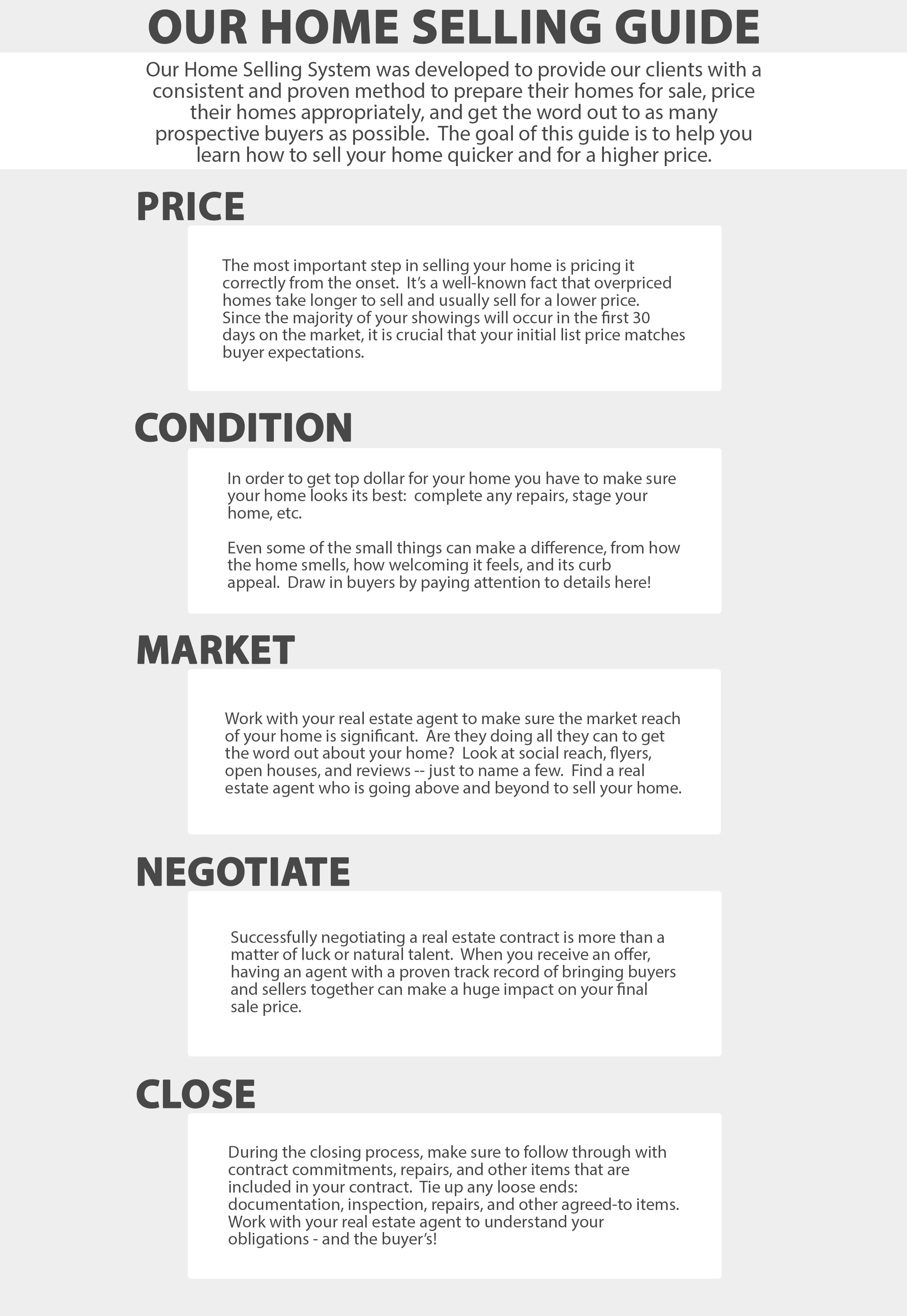 Infographic Selling Guide
